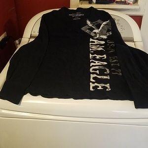 American eagle blue long sleeve thermal shirt XL